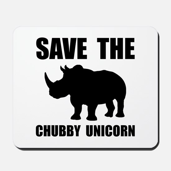 Chubby Unicorn Rhino Mousepad
