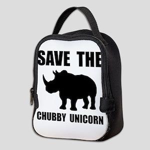 Chubby Unicorn Rhino Neoprene Lunch Bag