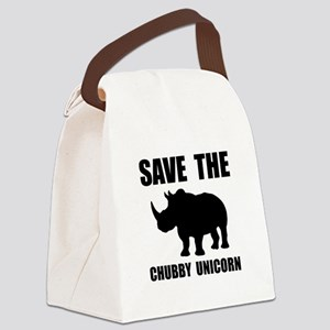 Chubby Unicorn Rhino Canvas Lunch Bag