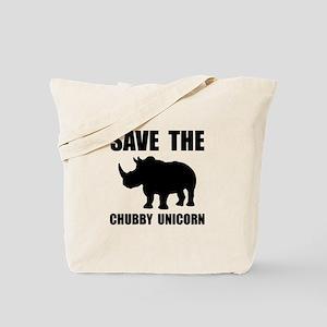 Chubby Unicorn Rhino Tote Bag