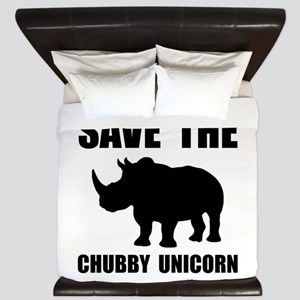 Chubby Unicorn Rhino King Duvet