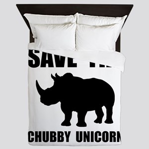 Chubby Unicorn Rhino Queen Duvet