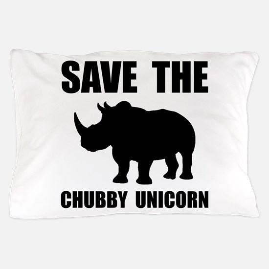 Chubby Unicorn Rhino Pillow Case