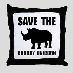 Chubby Unicorn Rhino Throw Pillow
