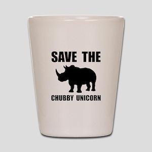 Chubby Unicorn Rhino Shot Glass