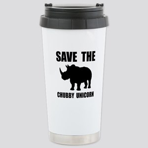Chubby Unicorn Rhino Travel Mug