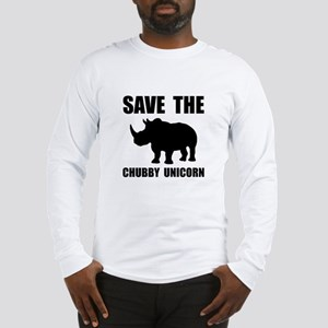 Chubby Unicorn Rhino Long Sleeve T-Shirt