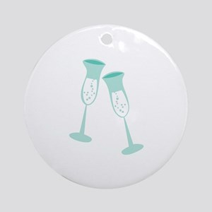 CHAMPAGNE TOAST Ornament (Round)