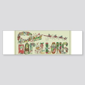 Christmas Papillons and Phalenes Bumper Sticker