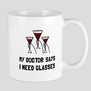 Doctor Says Wine Glasses Mugs