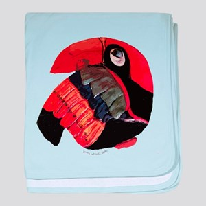 The Toucan baby blanket