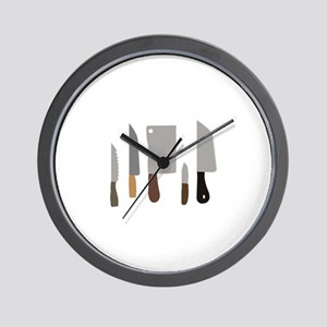 Chef Knives Wall Clock