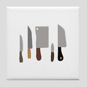Chef Knives Tile Coaster