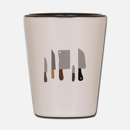 Chef Knives Shot Glass