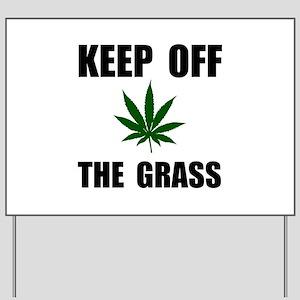 Keep Off The Grass Yard Sign