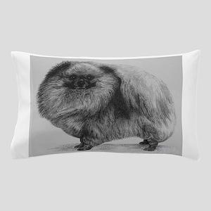 Pomeranian Dog - Black Pillow Case