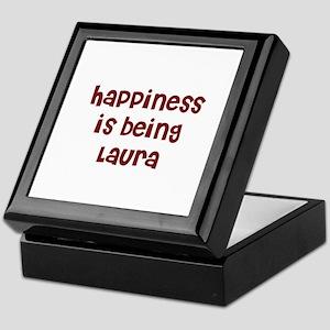 happiness is being Laura Keepsake Box