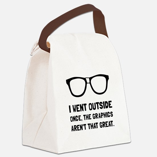 Outside Graphics Not Great Canvas Lunch Bag