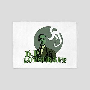 H.P. Lovecraft 5'x7'Area Rug