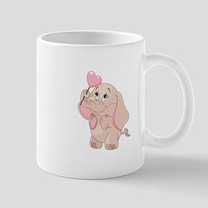 Pink Cartoon Elephant Mugs