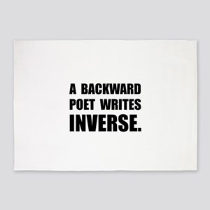 Poet Writes Inverse 5'x7'Area Rug