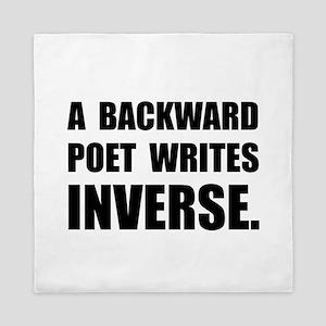 Poet Writes Inverse Queen Duvet