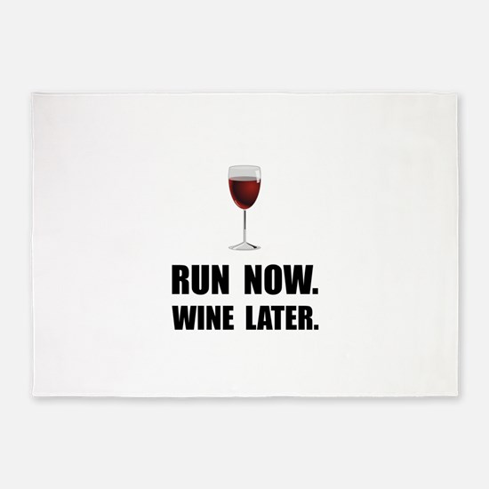 Run Now Wine Later 5'x7'Area Rug