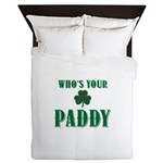 Who's Your Paddy Shamrock Queen Duvet