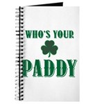 Who's Your Paddy Shamrock Journal