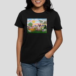 Easter Pug Women's Dark T-Shirt
