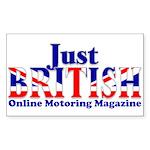 Just British Online Motoring Magazine Sticker