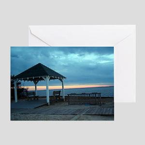New Jersey Sunset Card - Gazebo