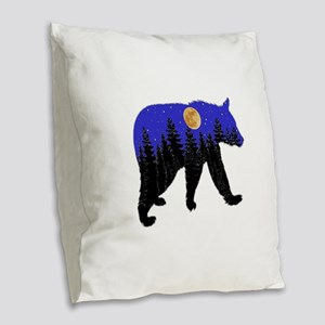 NIGHT Burlap Throw Pillow