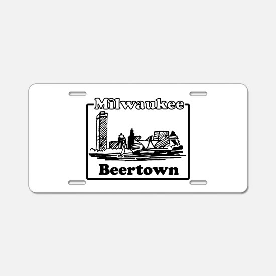 Beertown Aluminum License Plate