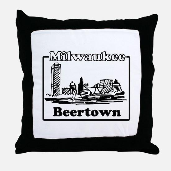 Beertown Throw Pillow
