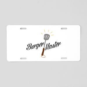 Burger Master Aluminum License Plate