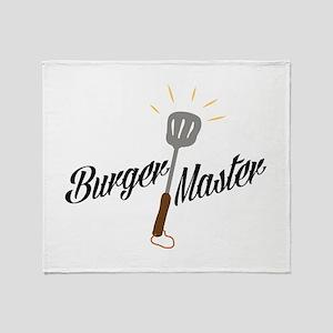 Burger Master Throw Blanket