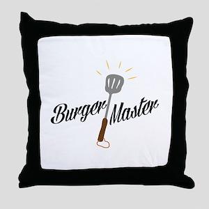 Burger Master Throw Pillow