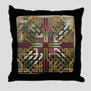 Earthtone Celtic Knot Square Throw Pillow