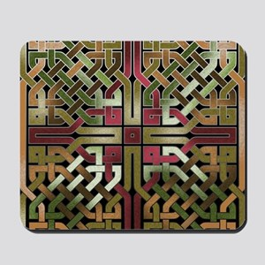 Earthtone Celtic Knot Square Mousepad