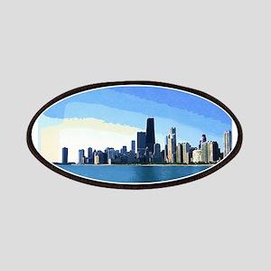 Chicago Skyline Goache Paint Patch