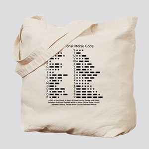 Morse Code Reference Survival Tote Bag