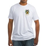 Keating coat of arms Fitted Light T-Shirts