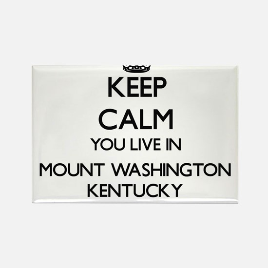 Keep calm you live in Mount Washington Ken Magnets