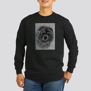 Chow Chow Dog Headstody - Blac Long Sleeve T-Shirt