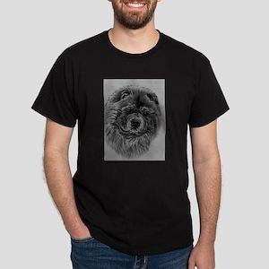 Chow Chow Dog Headstody - Black T-Shirt