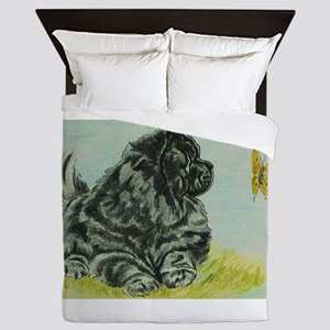 Chow Chow Dog with Butterfly Queen Duvet