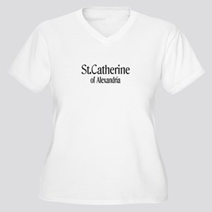 St. Catherine of Alexandria Women's Plus Size V-Ne