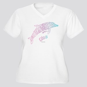 Glee Dolphin Women's Plus Size V-Neck T-Shirt