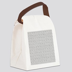 White Faux Glitter Canvas Lunch Bag
